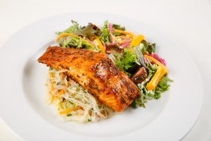 Honey and Harissa Salmon